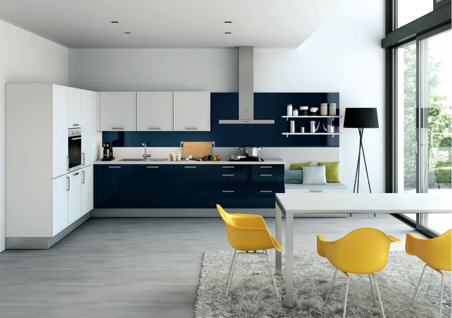 Indigo Blue Kitchen Cabinets