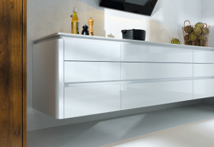 Alea curved, Crystal white high gloss (33)