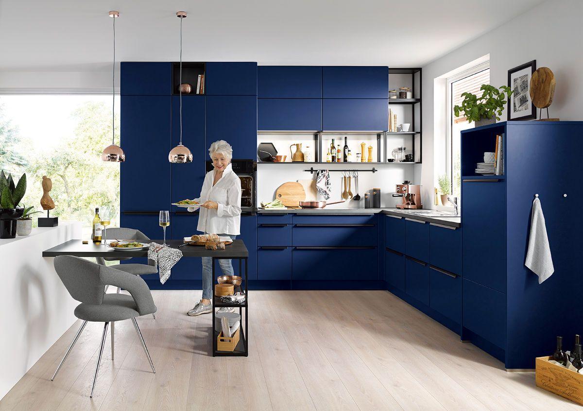 C Range Aqua Blue Matt Kitchen