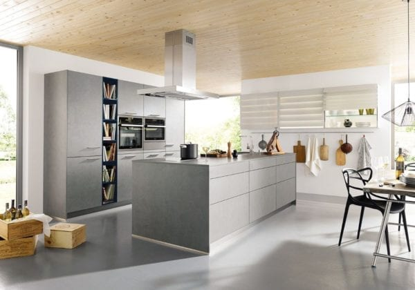 C Range Concrete Dark Grey Kitchen