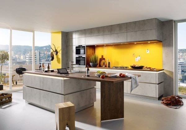 C Range Concrete Quartz Kitchen