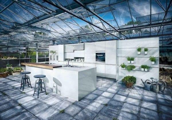 Next 125 Crystal Grey Matt Glass Kitchen
