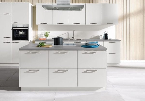 C Range Crystal Grey Silk Gloss Kitchen