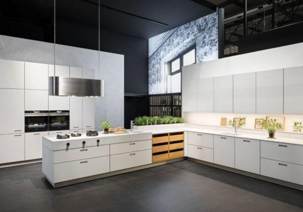 Next 125 Crystal White Matt Glass Kitchen