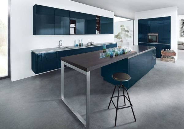 Next 125 Indigo Blue High Gloss Kitchen