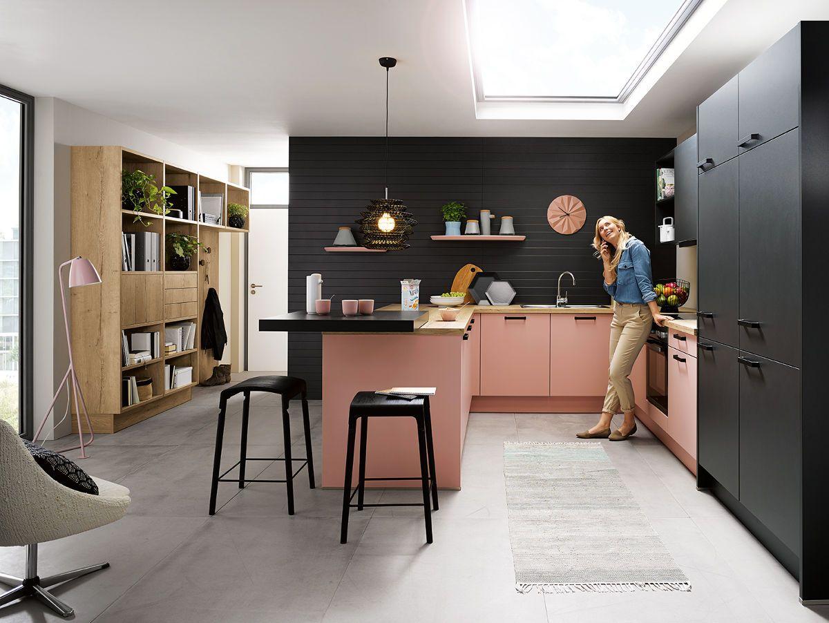C Range Pastel Rose Satin Lacquer Kitchen