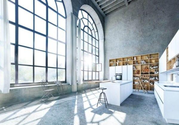 Next 125 Polar White Matt Glass Kitchen