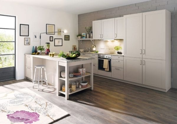 C Range Sand Grey Silk Gloss Kitchen