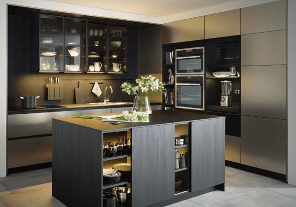 C Range Stainless Steel Metallic Ground Kitchen