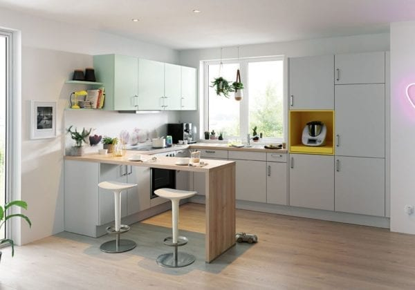 C Range Crystal Grey Matt Kitchen