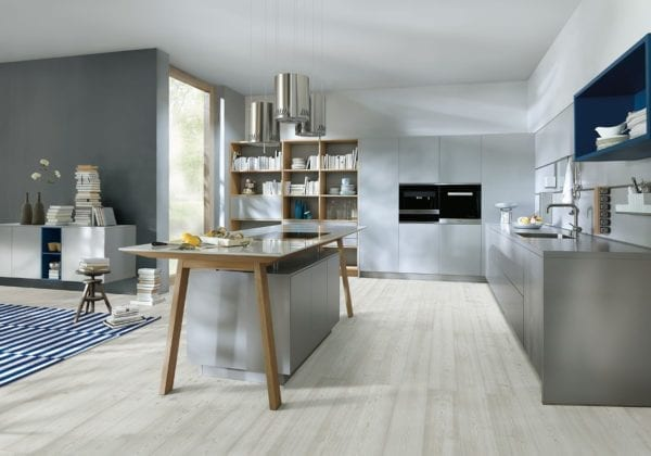 Next 125 Stone Grey Satin Kitchen